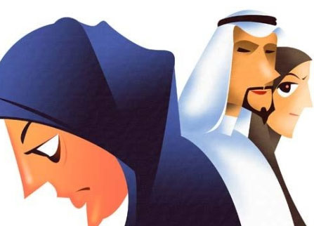 arab woman and husbands