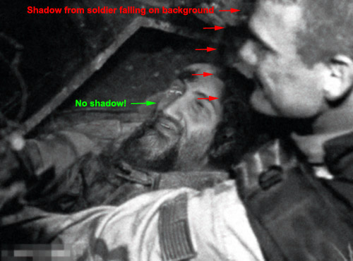 why dead body picture of osama is fake