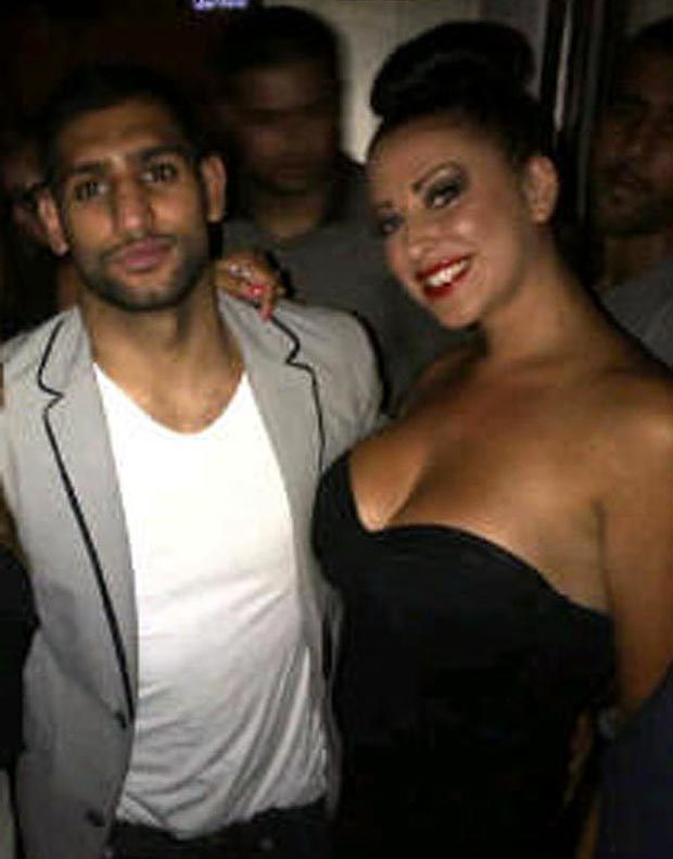 natalie kane with amir khan boxer